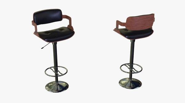 bar barstool stool 3D