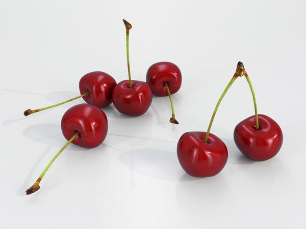 3D model cherry fruit