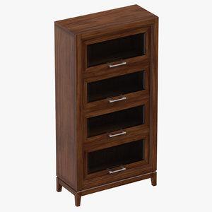 classical bookcase 3D model