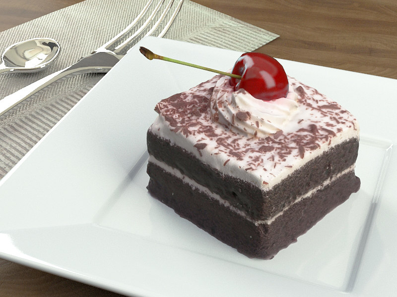 cake chocolate cherry model