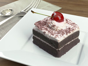 cake chocolate cherry model