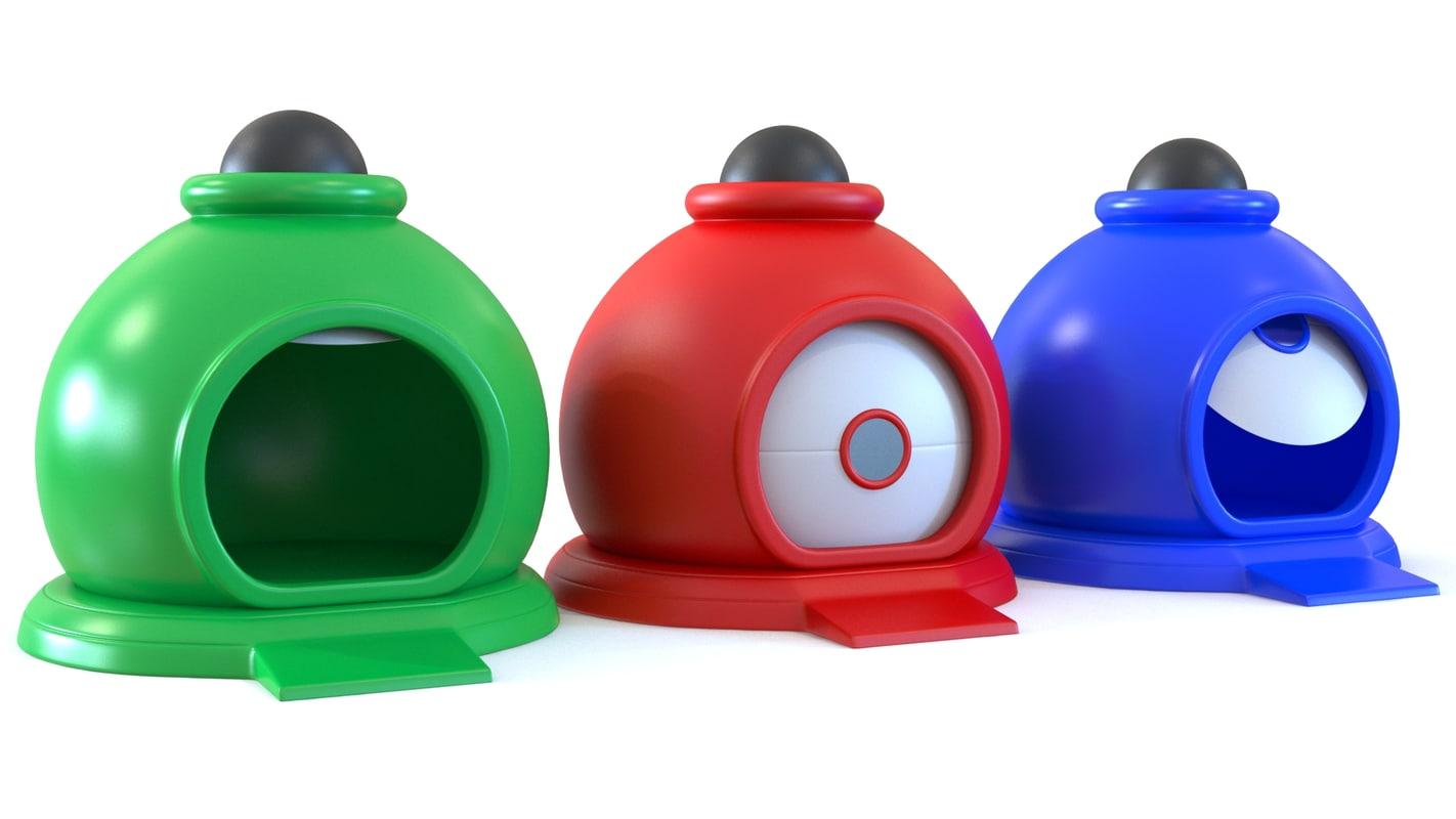 toy garage 3D model