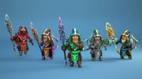 Animated Mage Hero Set
