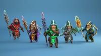 3D mage hero model