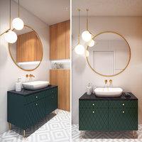 scene modern bathroom 3D model