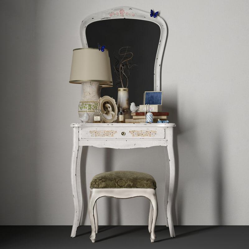 3D model decorotive set classic table