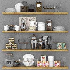 3D shelves rack