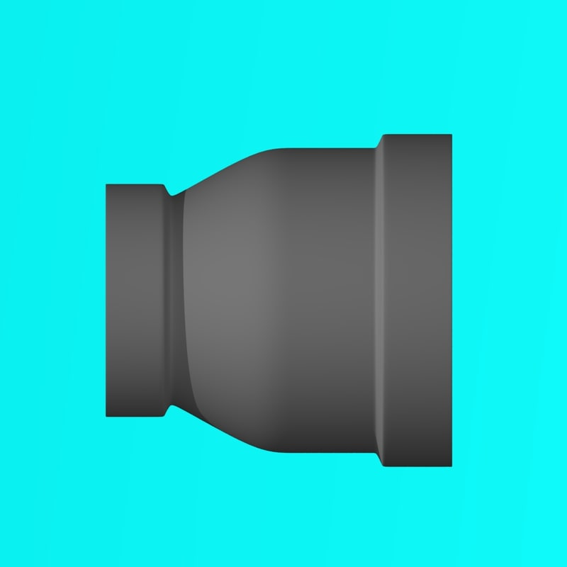 3D thread iron pipe fitting