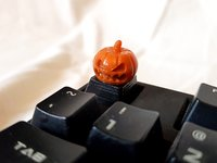 3D evil pumpkin keycap cherry model