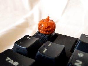 3D evil pumpkin keycap cherry model