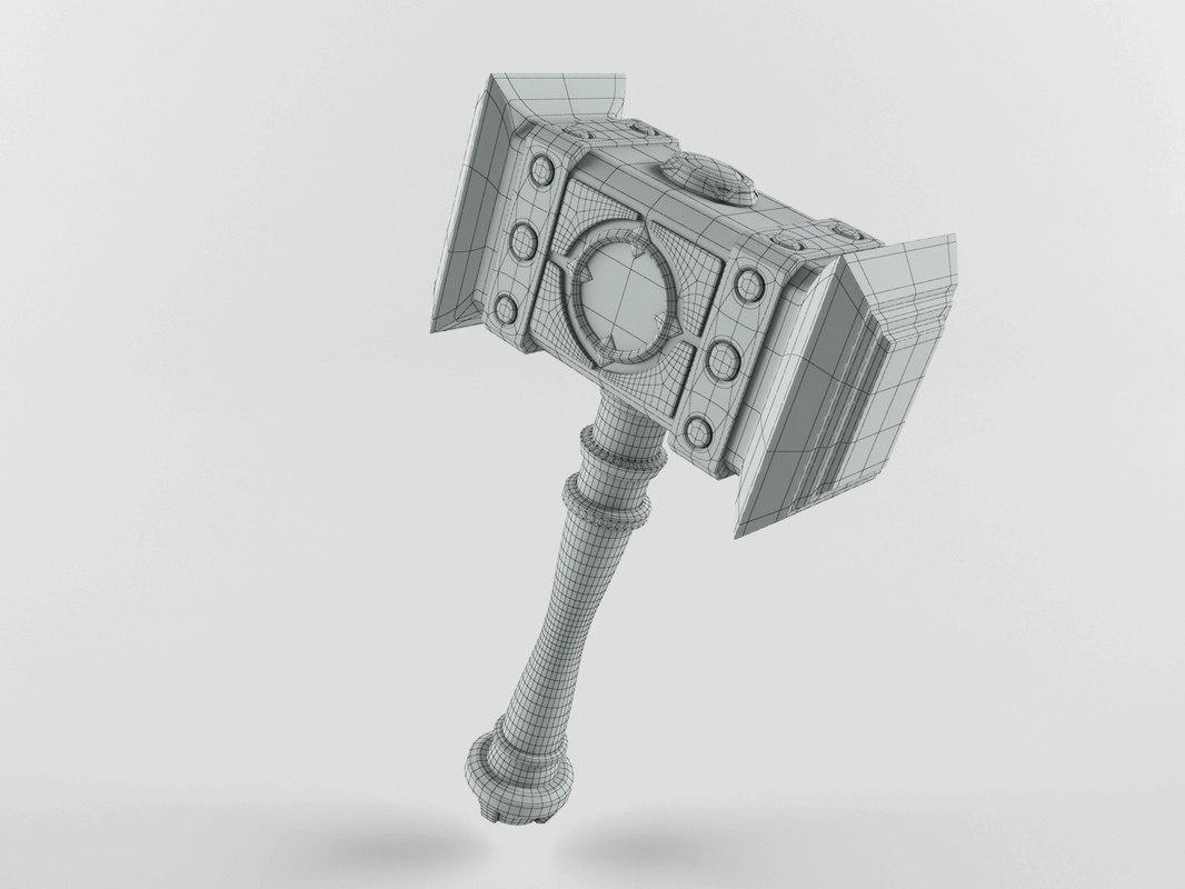 3D fantasy hammer