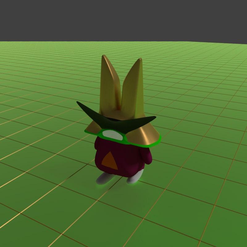 big hat 3D