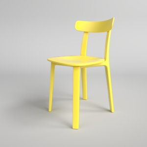 interior vitra plastic chair 3D model