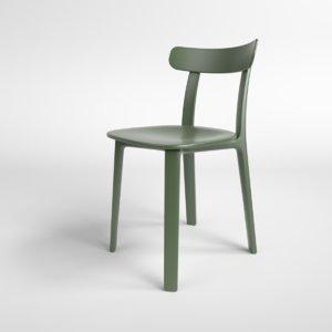 3D interior vitra plastic chair