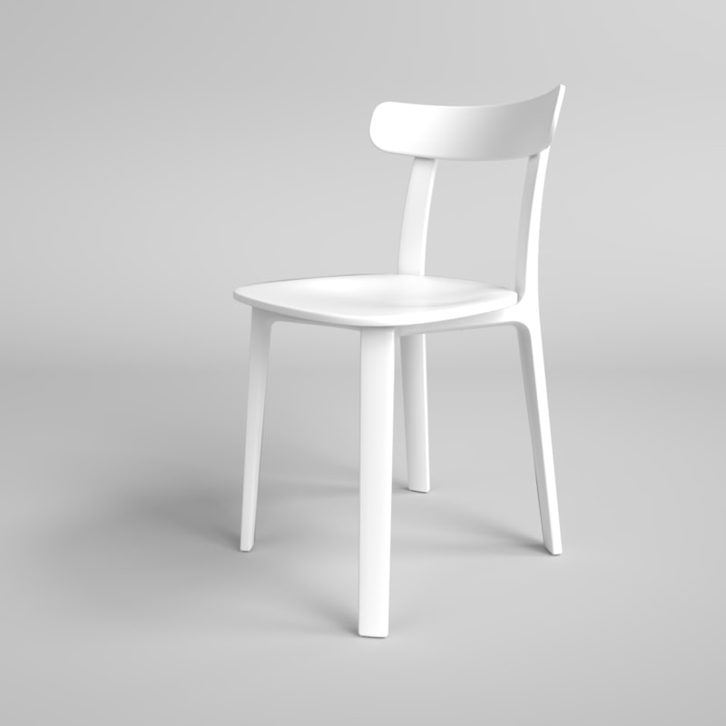 3D interior vitra plastic chair model