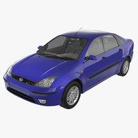 focus sedan europe 1999 3D