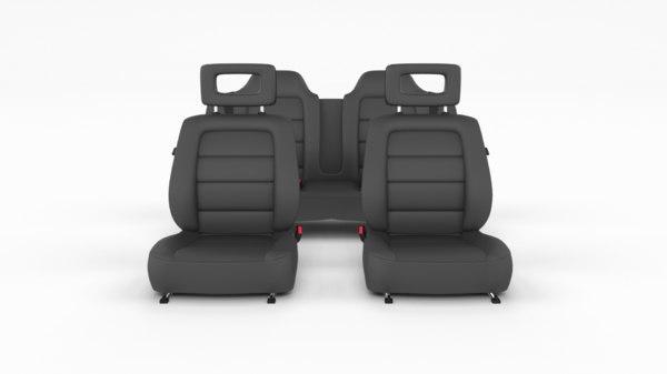 generic leather car seats 3D model