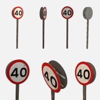 speed sign 3D model