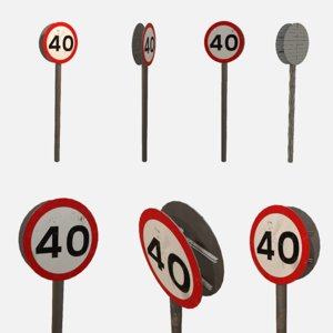 speed sign 3D model
