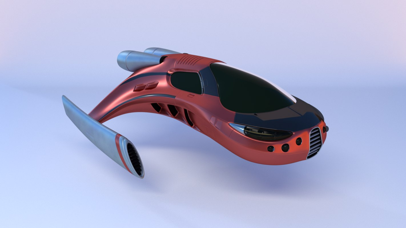3D sci-fi spaceship model