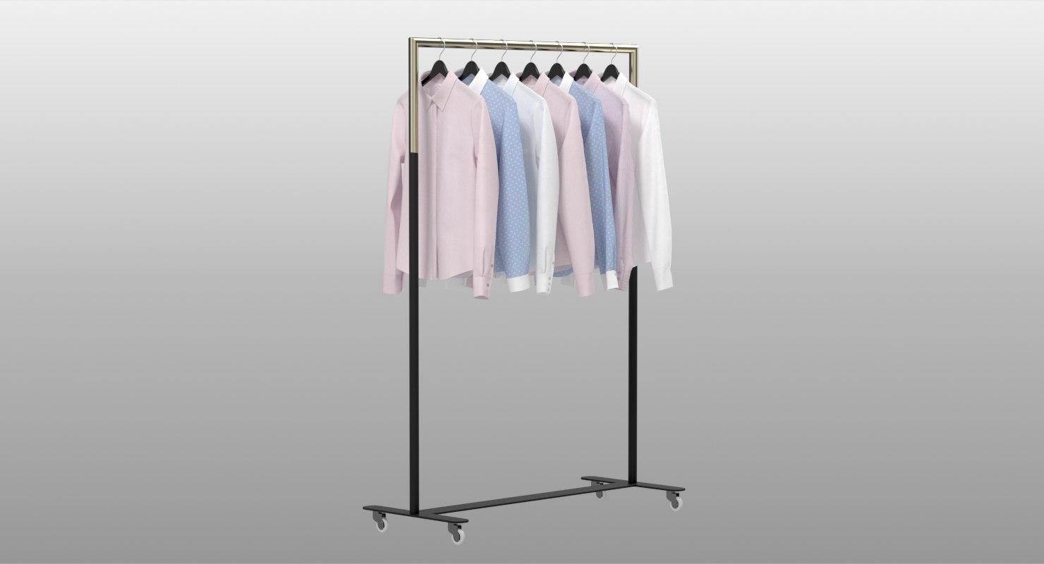 realistic women shirts 3D model