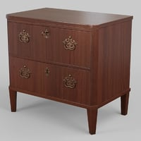 classic chest drawers england 3D model