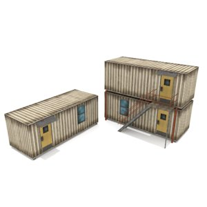 3D polygonal cabin containers -
