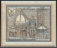 Florence Cathedral Santa Maria del Fiore for CNC Router 3D model emboss die foil 3D model
