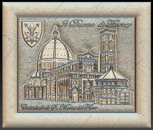 florence cathedral santa maria 3D