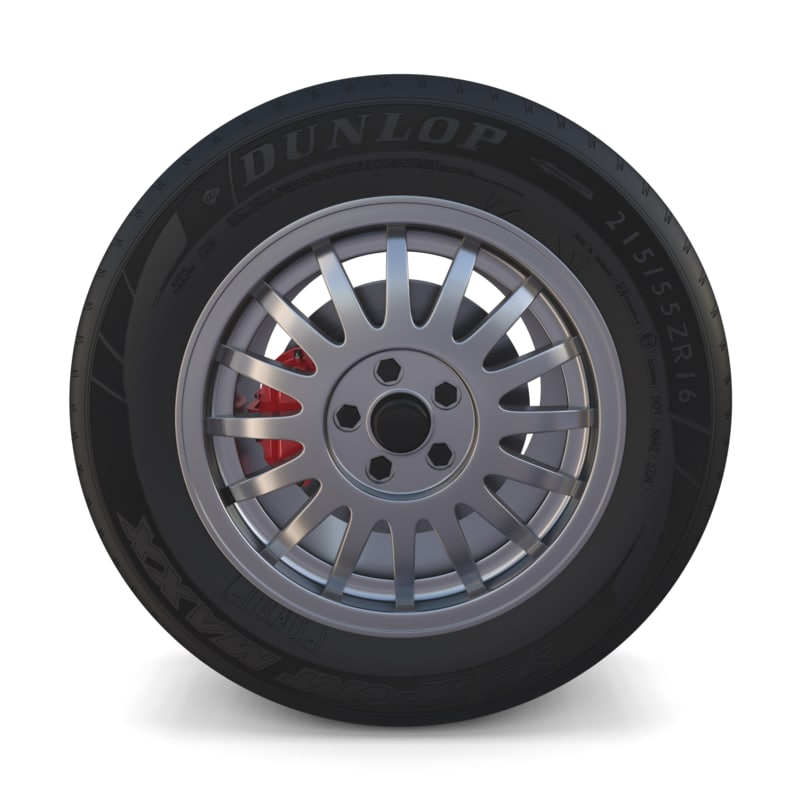 generic car alloy wheel 3D