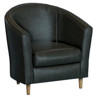 tub armchair leather 3D model