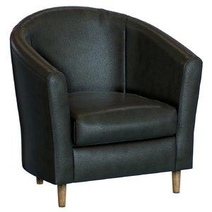 tub armchair leather 3D model