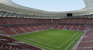 luzhniki stadium 2018 3D model