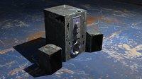 3D speaker metal