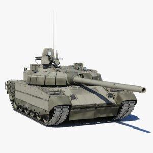 3D model t-80 t-80bvm