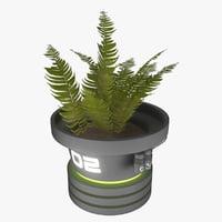 futuristic pot 3D model