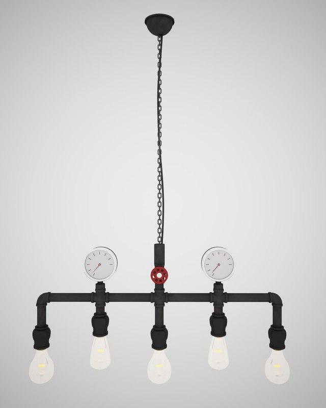 3D pendant light l02 model