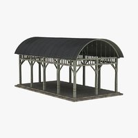 pavilion 1800s 1900s 3d model