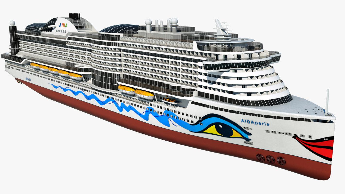 3D cruise ship model