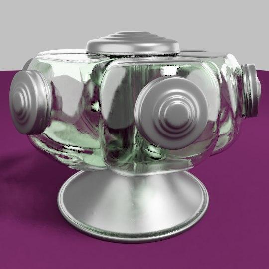 vintage candy jar 3D model