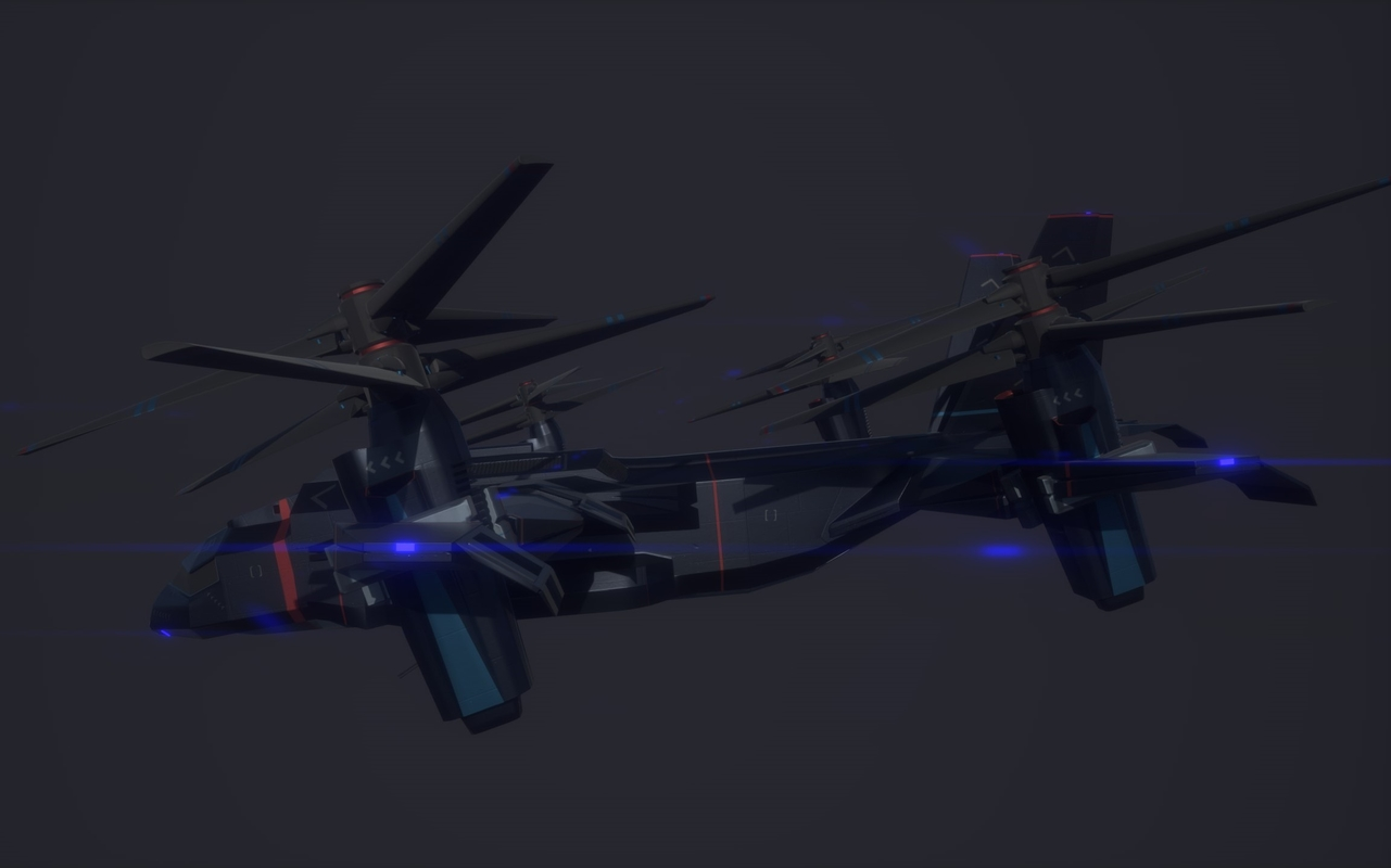 3D model vtol - v48 night