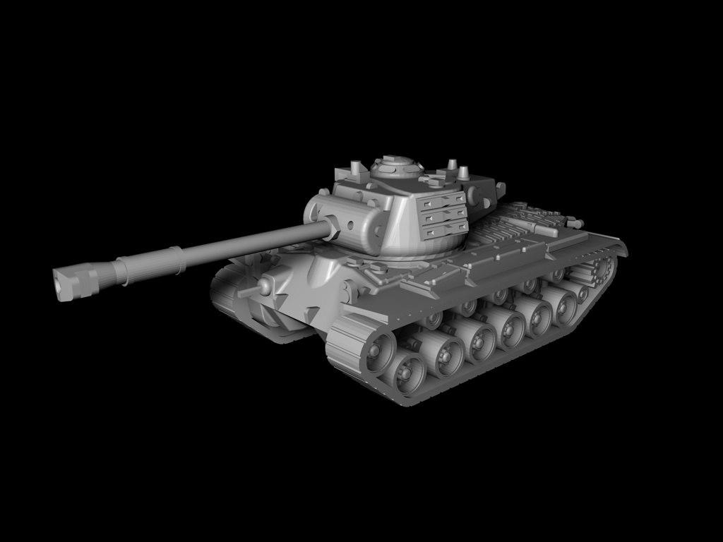 tank m46 3D model