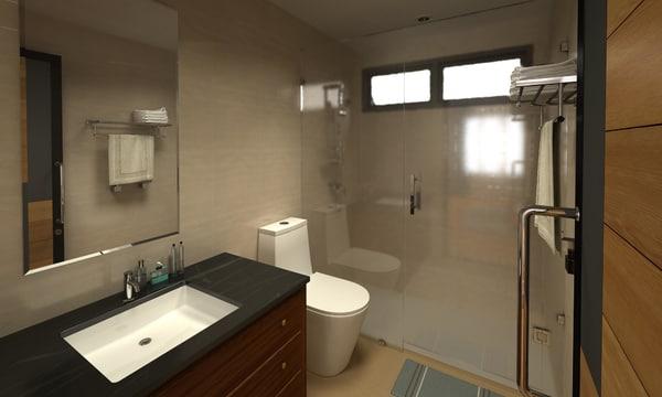 bathroom 02 3D model