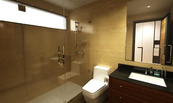 3D bathroom room