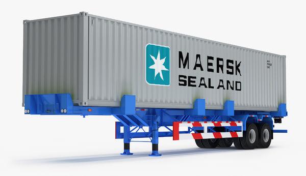 3D container trailer titan
