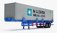 3D container trailer titan