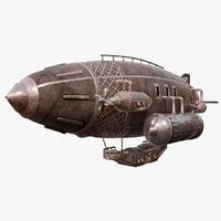 steampunk airship 3ds