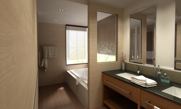 3D bathroom 06 model