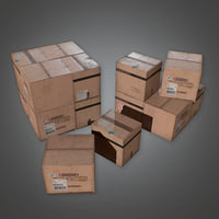 Shipping Box Palette (Construction) - PBR Game Ready