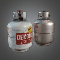 Propane Tanks (Construction) - PBR Game Ready